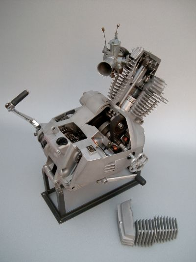 sectioned morini engine